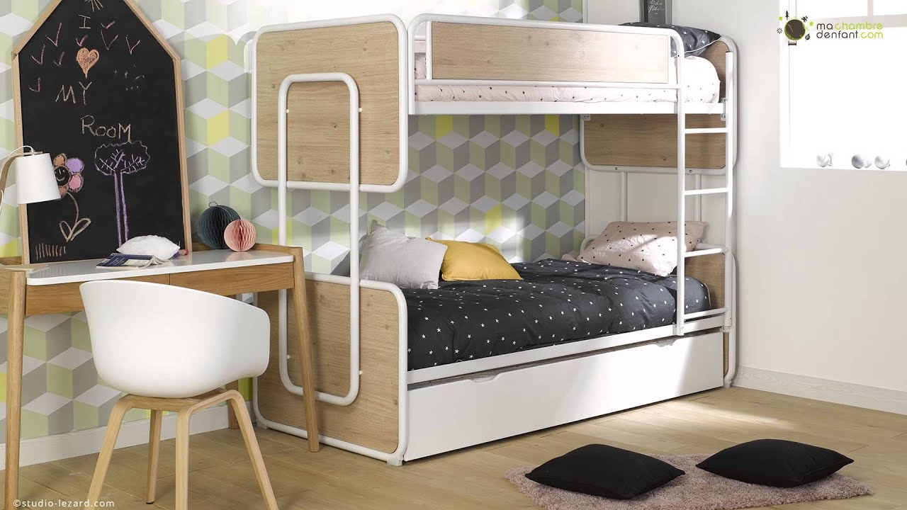 lit superpos adolescent et enfant spiral ma chambre d 39 enfant youtube. Black Bedroom Furniture Sets. Home Design Ideas