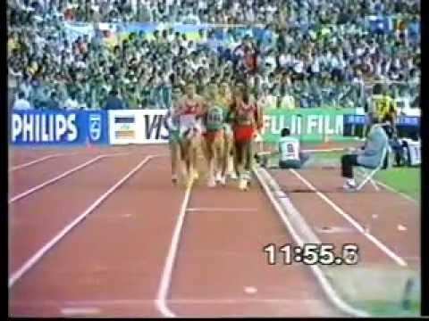 Atletismo :: Domingos Castro ganha a Medalha de Prata nos 5000m dos Campeonatos Mundiais, Roma, 1987