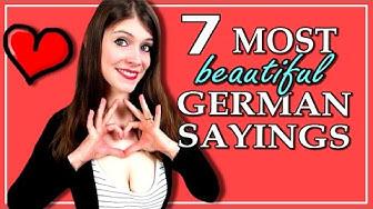 7 MOST BEAUTIFUL German Sayings