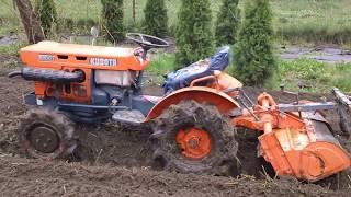 Kubota 6001 prezentacja traktorka ogrodniczego. www.akant-ogrody.pl