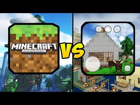 """minecraft-pocket-edition-vs-mini-block-craft-3d""-(minecraft-pe,-mobile-games,-ios,-android)"