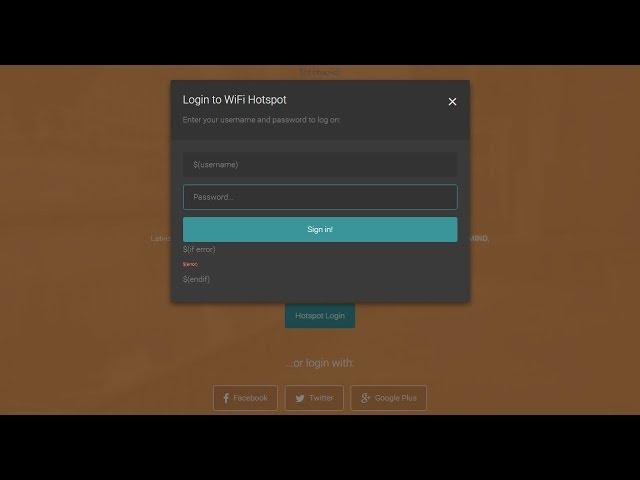 Free mikrotik hotspot login page template responsive
