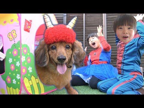 spiderman-vs-demon-dog-bean-sowing-spiderman-kids-superheroes-kids