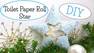 Frosty Christmas Star Recycling Craft Challenge Tutorial
