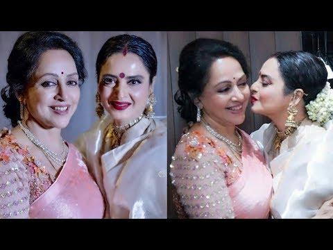 Shocking Hema Malini and Rekha looking so young after their plastic surgery  Hema Malini brday