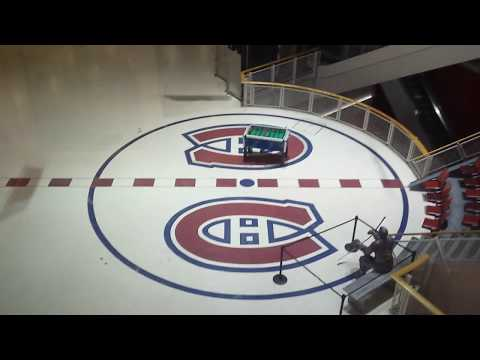 Glass elevator ride at the Montreal Forum