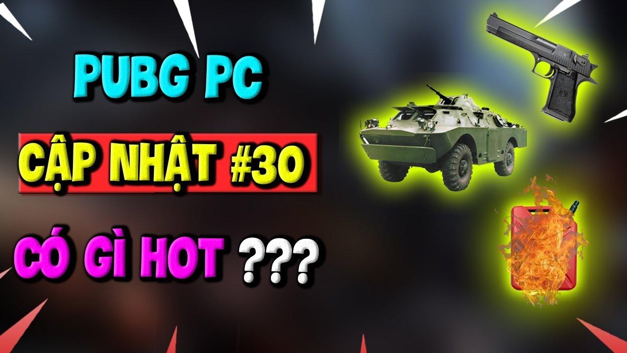 PUBG PC Update 30 Có gì hot? - Súng mới Deagle, Xe bọc thép BRMD 2, Bắn nổ bình xăng