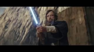 Luke Skywalker vs Kylo Ren scene