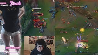 STPEACH SHOWS TO MUCH?! | Dyrus 200IQ Moment | Nightblue3 Gets Outplayed | OP LoL Stream Moments