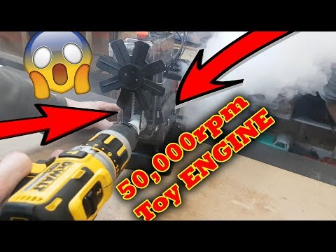 KaBOOM!!! Airfix TOY Engine Explosion at 50,000rpm - THE BEST ONE YET !!