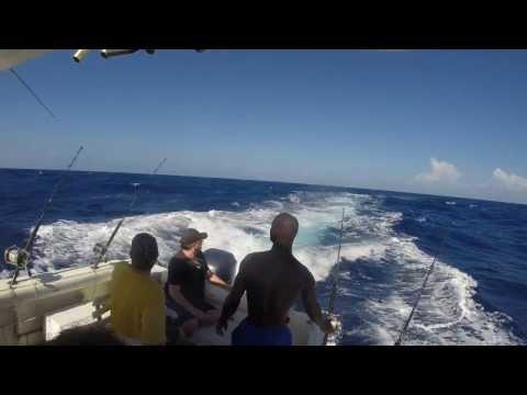 Deep Sea Fishing In Montego Bay,Jamaica 2014 80ILB+ Blue Marlin 1080p