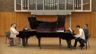 Chopin Rondo in C for two pianos Op. 73 posth. - Albert Bursuc, Evangheline Asoltanei