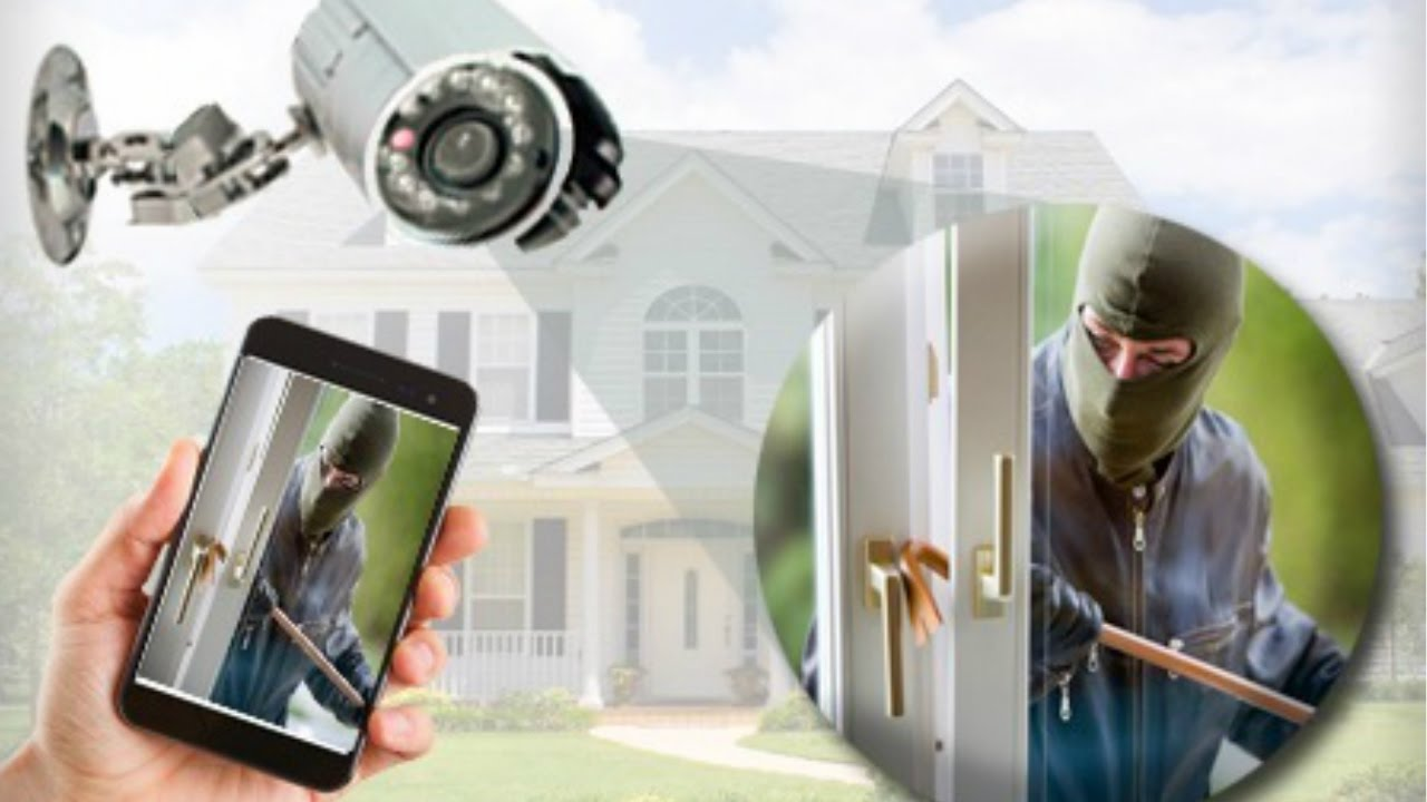 Image result for images of people doing home security with smartphone