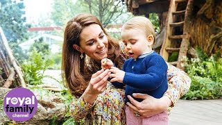 George, Charlotte and  Louis visit Duchess of Cambridge's Chelsea Flower Show garden