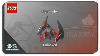 Lego Jurassic World How To Unlock Pteranodon Dinosaur Character Location