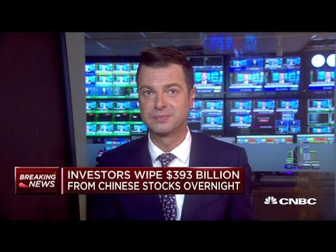 Investors wipe $393 billion from Chinese stocks overnight