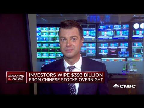 Investors Wipe $393 Billion From Chinese Stocks Overnight