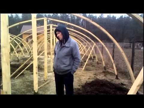 Деревянная теплица своими руками как построить?