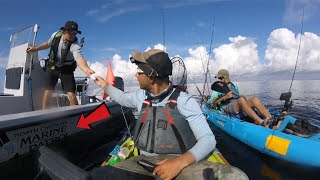 "MARINE POLICE ""BOARDS"" KAYAK FISHERMAN - WHATS IN THE COOLER? + Barracuda/Spanish Mackerel Blitz"