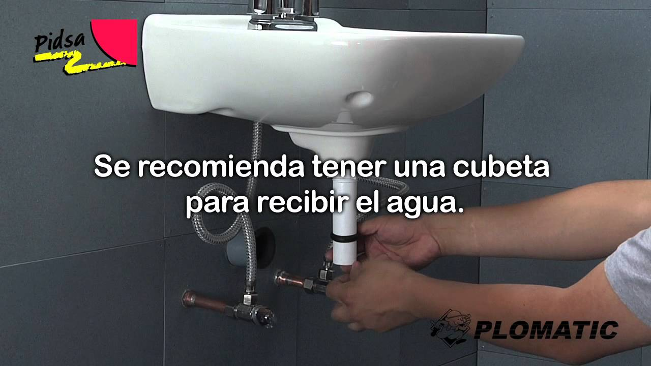 Cmo instalar la Trampa Flexible para Lavabo 32mm  YouTube