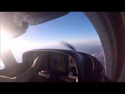 Burlington VT  Gusty Landing In The Cirrus SR22