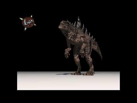 American Godzilla 3d Animation Test