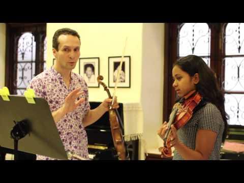 Violin masterclass at Mehli Mehta Music Foundation in Mumbai