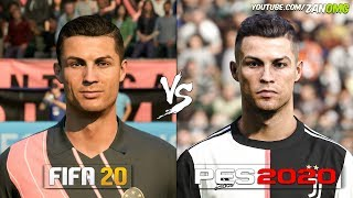 FIFA 20 vs PES 2020 | Juventus (PIEMONTE CALCIO) Faces Comparison