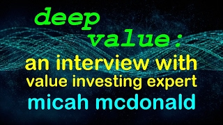 Deep value investing w/ Micah McDonald: ETF strategies for solid profits. // stocks tutorial basics
