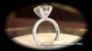 GIA Round Brilliant Cut Diamond (3.70ct I SI1) in hand made Mark Morrell setting