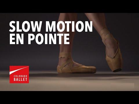 Ballet dancer's feet in slow motion