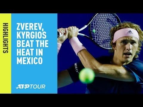 Highlights: Zverev, Kyrgios, Isner, Norrie Into Acapulco 2019 Semi-finals