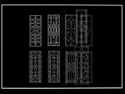 【autocad Block】chinese Classic Grilles Glazing Design