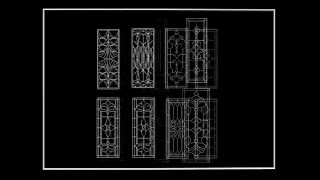 【autocad Block】chinese Classic Grilles Glazing Design.