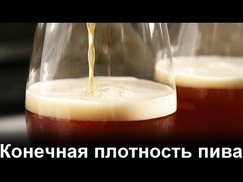 Конечная плотность пива