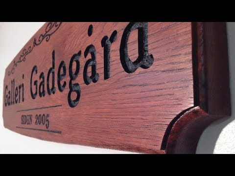 """""""How To"""" Make A Wooden Sign Like This (Oak Wood)"""