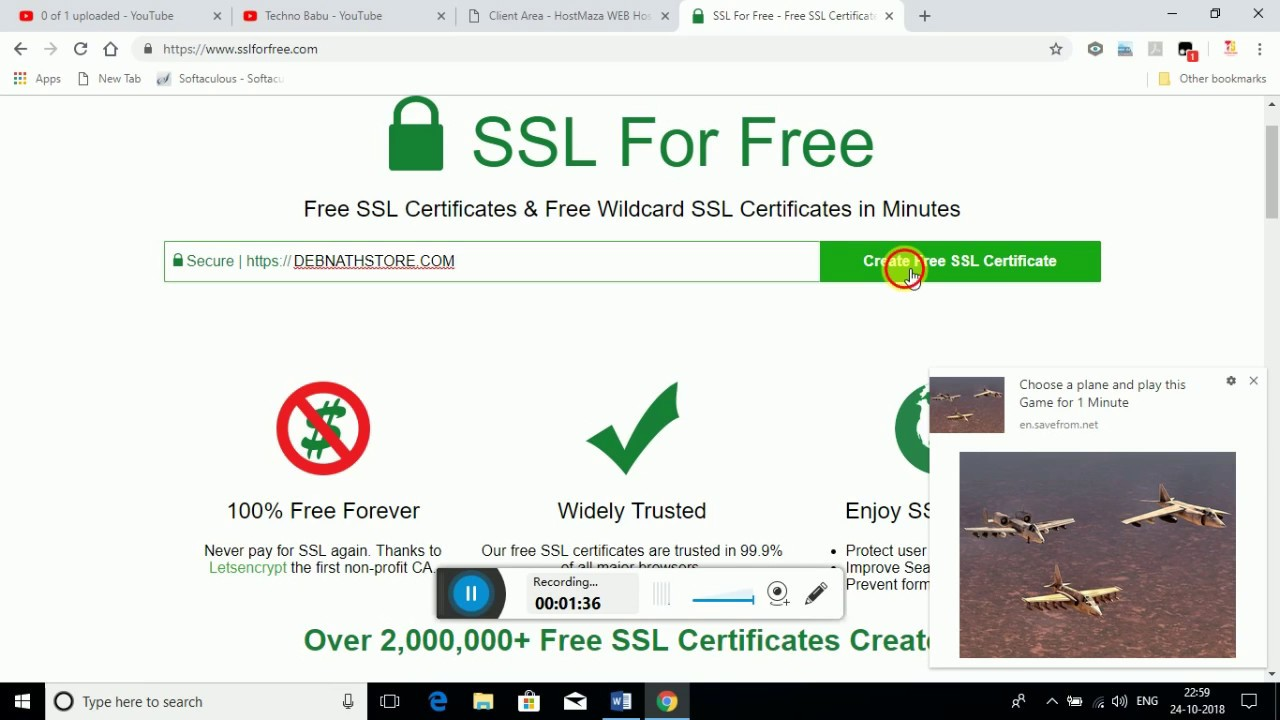 How to install free SSL Certificate in your CPanel (works 2018)