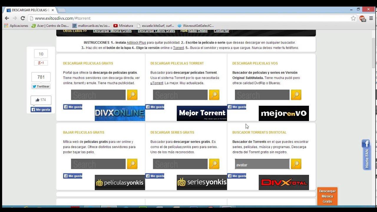 descargar peliculas gratis utorrent sin registrarse