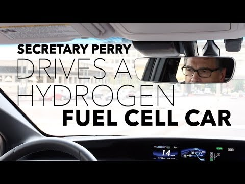 Secretary Perry Drives a Hydrogen Fuel Cell Car (U.S. Department of Energy)