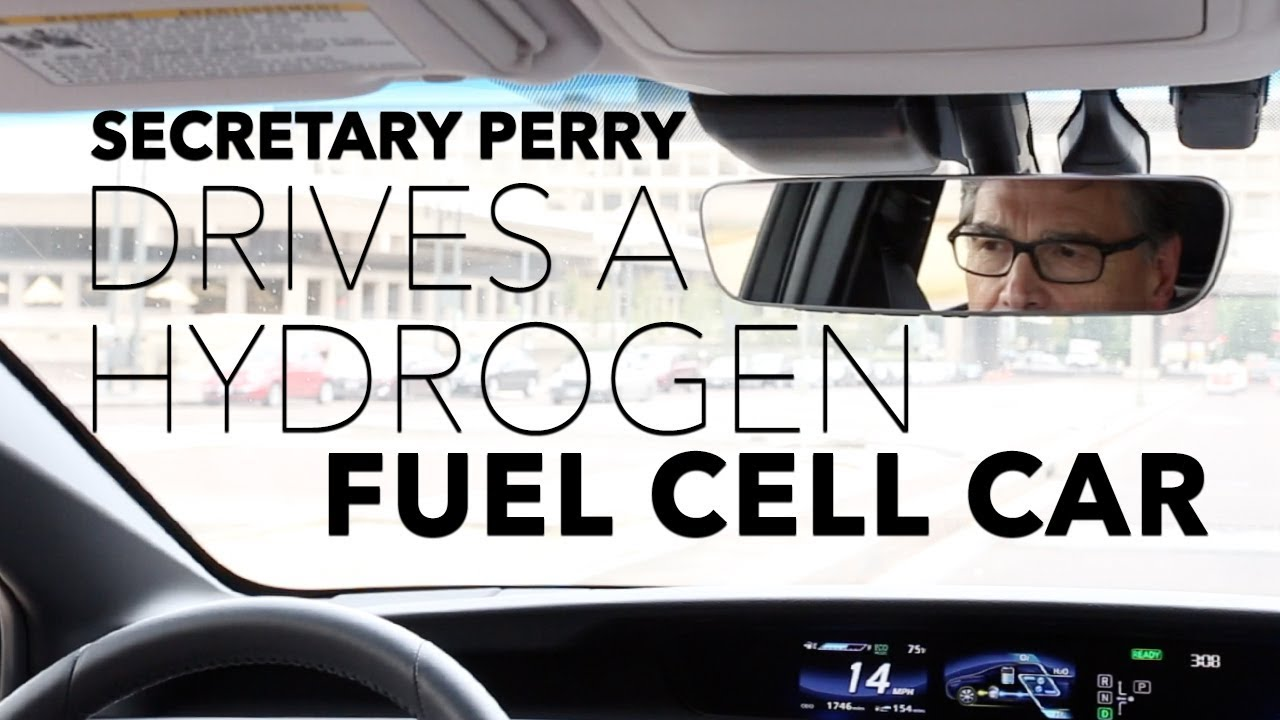 Secretary Perry Drives a Hydrogen Fuel Cell Car (U S  Department of Energy)