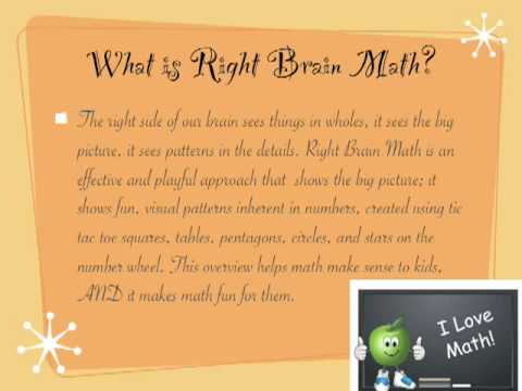 Right Brain Math Video for Learning Times Tables in a Fun Way ...