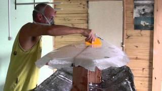 Arte de fazer prancha de Surf - Parte 2 (laminação)