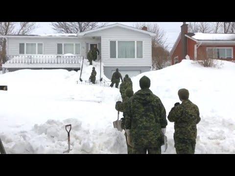 Military Joins Effort To Dig Out St. John's