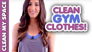 How to Clean Your Workout Clothes! Quick & Easy Ideas for Cleaning Workout Gear (Clean My Space) Thumbnail