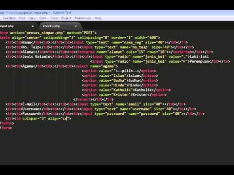Membuat Aplikasi Web Sederhana Dengan Php