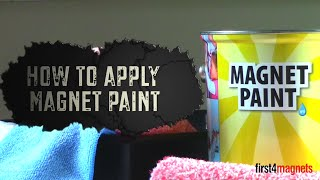 How to apply Magnet Paint