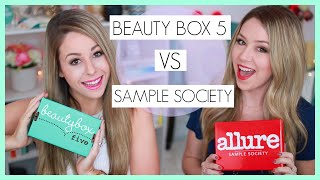 UNBOXING: Beauty Box 5 VS Sample Society - March + ANNOUNCEMENT!!