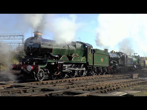 7029 'Clun Castle' And More At Tyseley Locomotive Works - 29/10/17