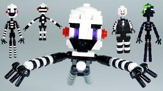 How to Build LEGO FNAF Puppet (Marionette) & Phantom Puppet