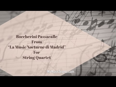 Boccherini Passacalle for String Quartet